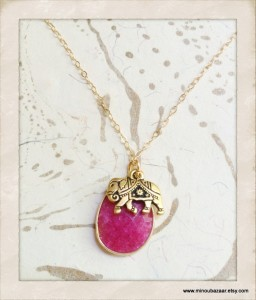 Ruby Elephant Necklace